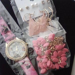 Fashion Jewelry Pink Lot, Cute!! Paris Watch